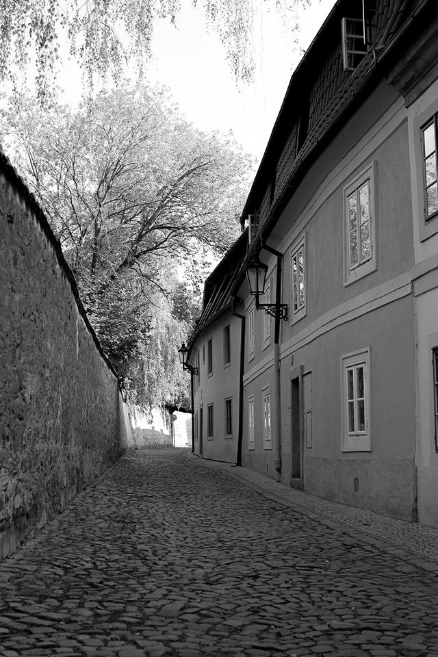 Einsamme Gasse in Prag