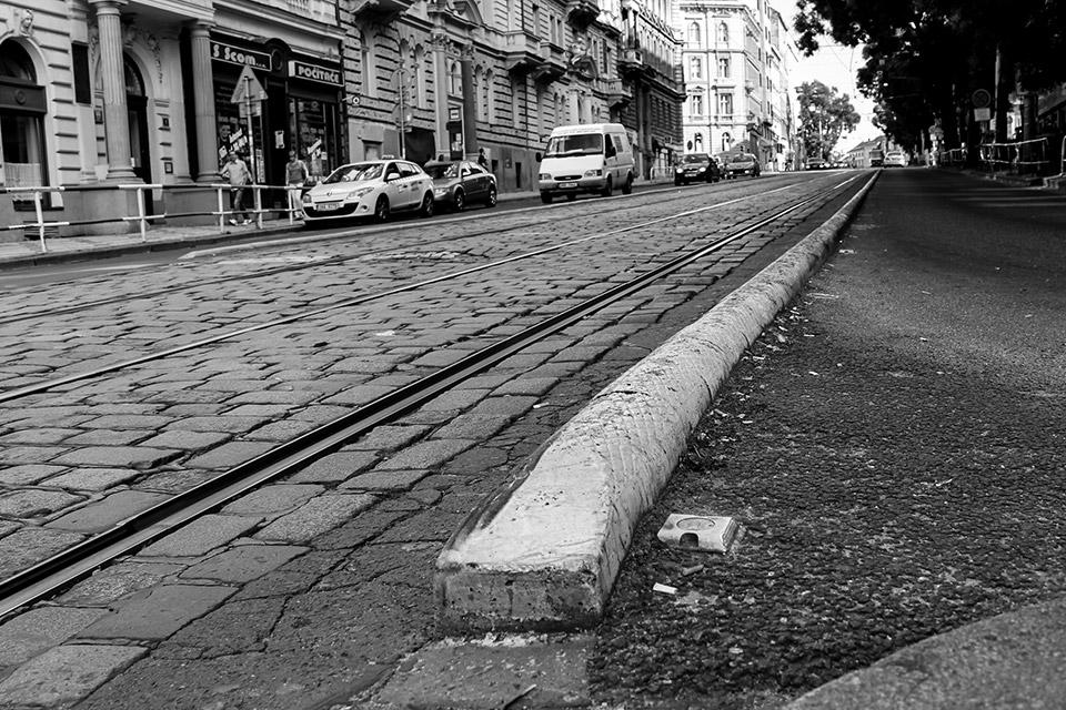 Raue Straße Prag
