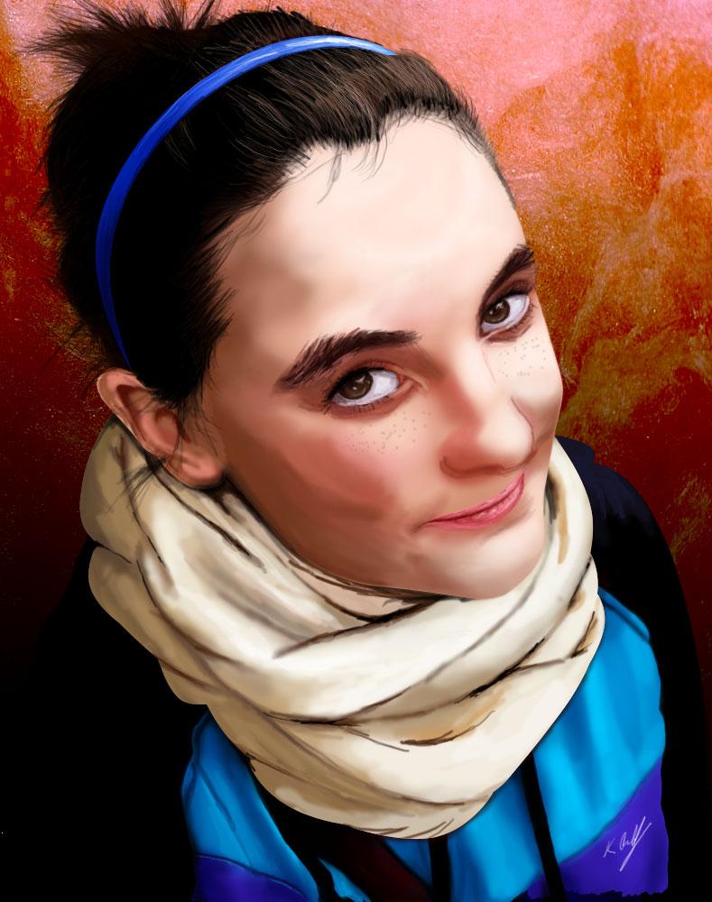 Digital Painting Sister