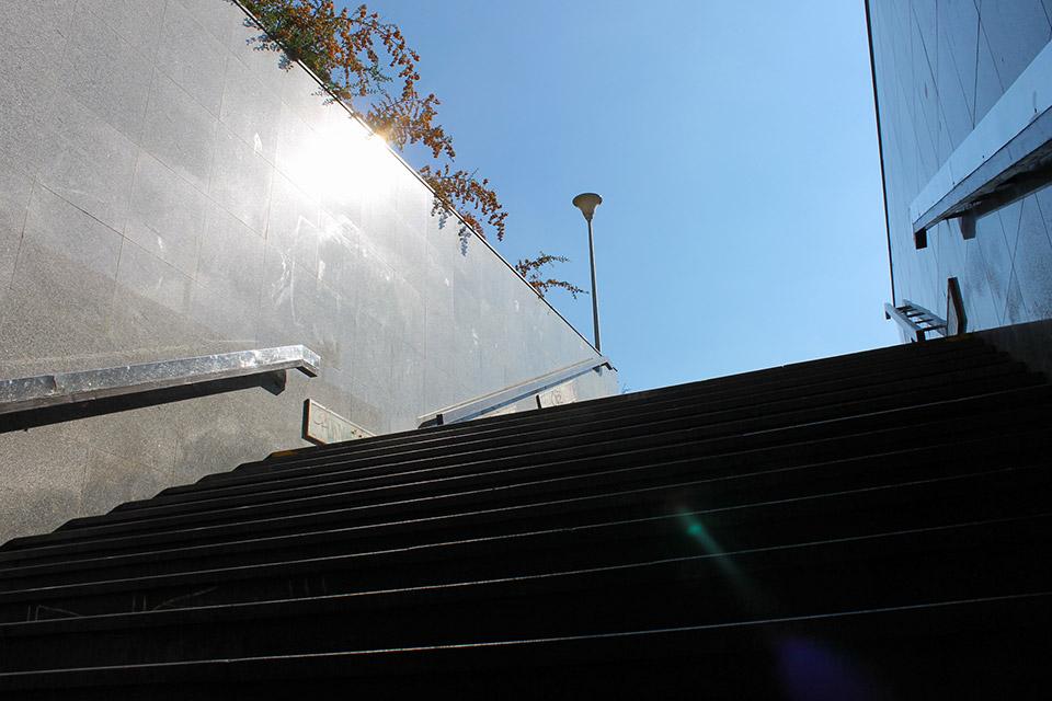 U-Bahn-Aufgang in prag