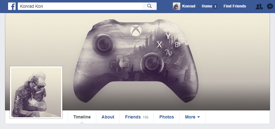 Mockup Facebook Profile Head
